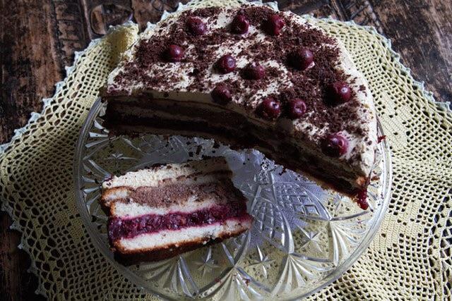 Ciasto czekoladowe z ajerkoniakiem