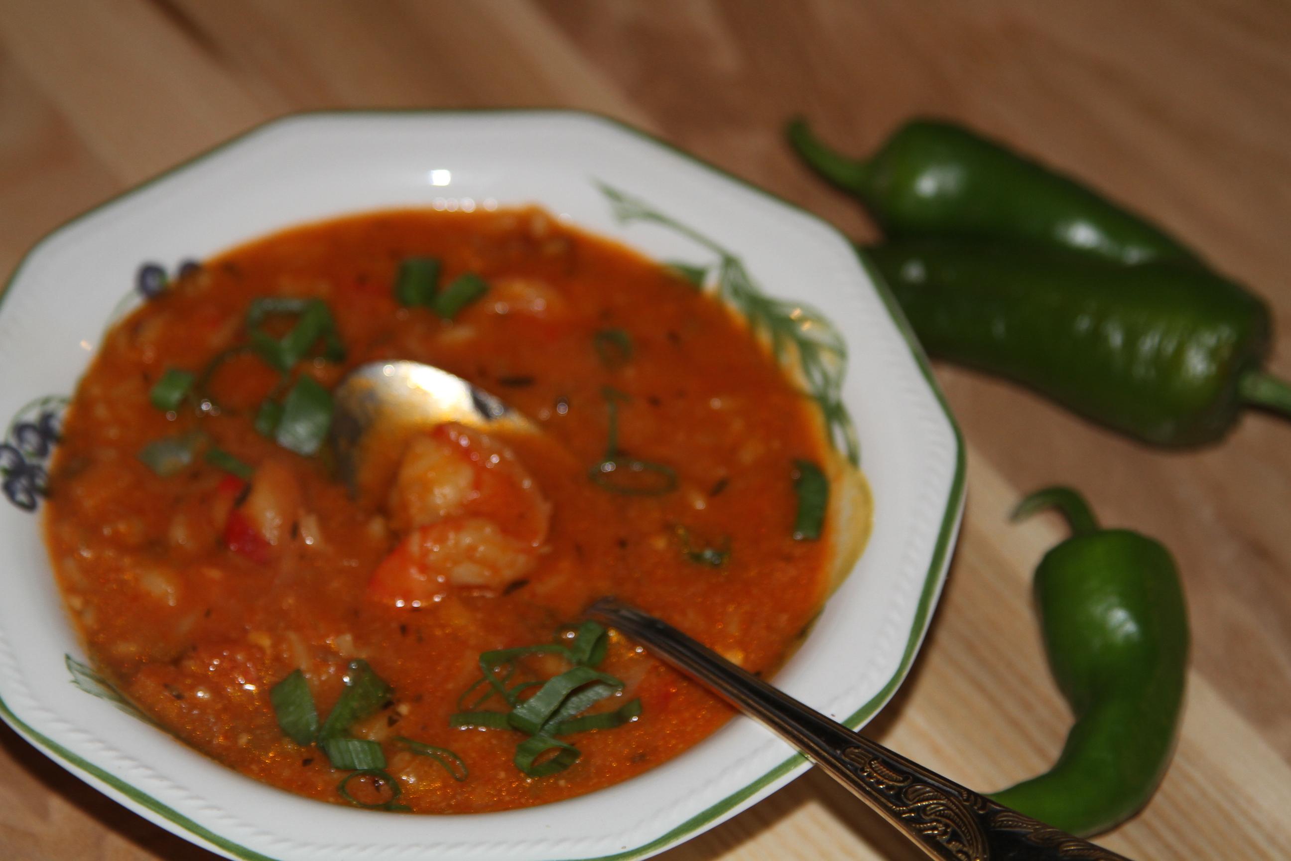 zupa z krewetkami i mleczkiem kokosowym