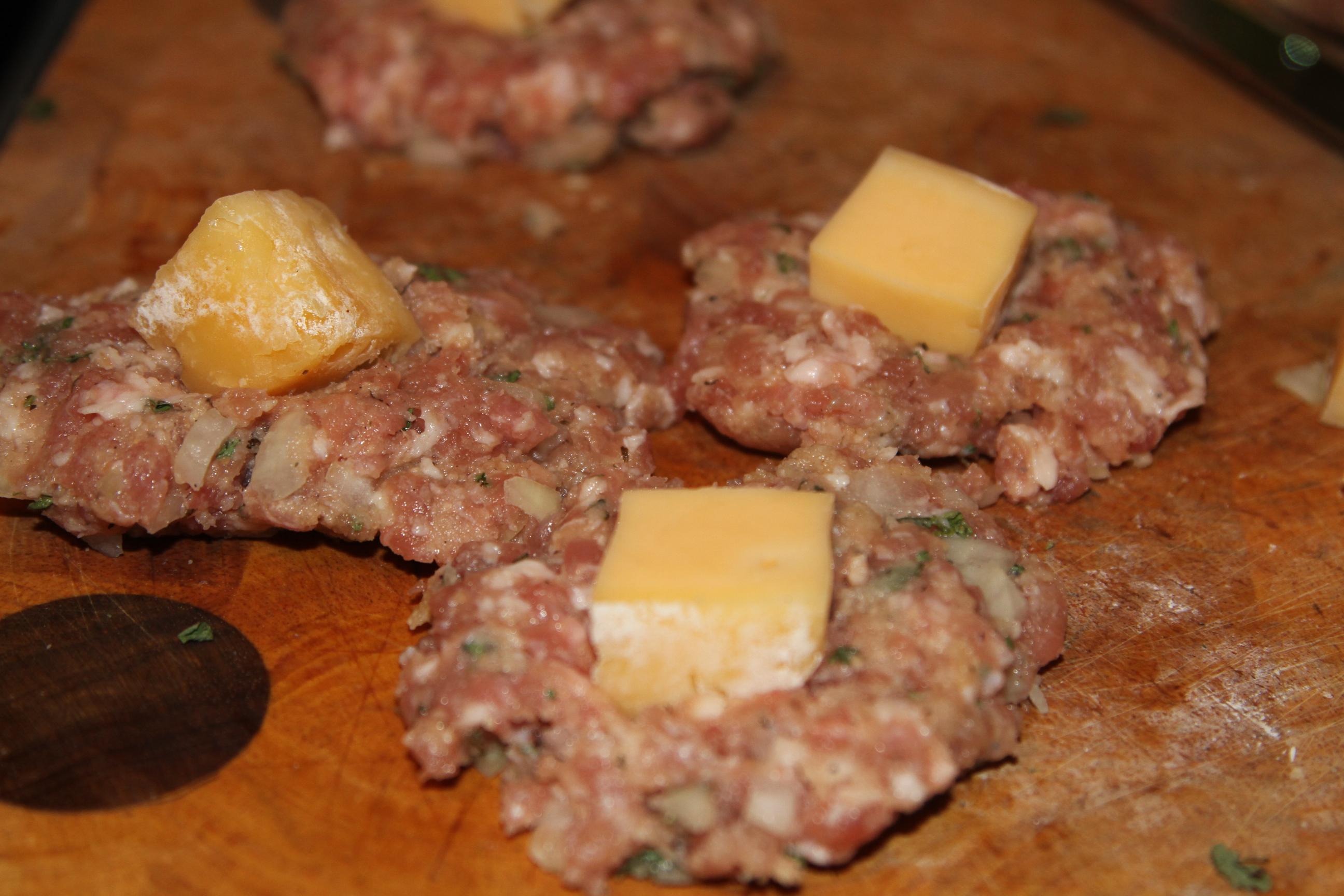 smażone klopsy z serem