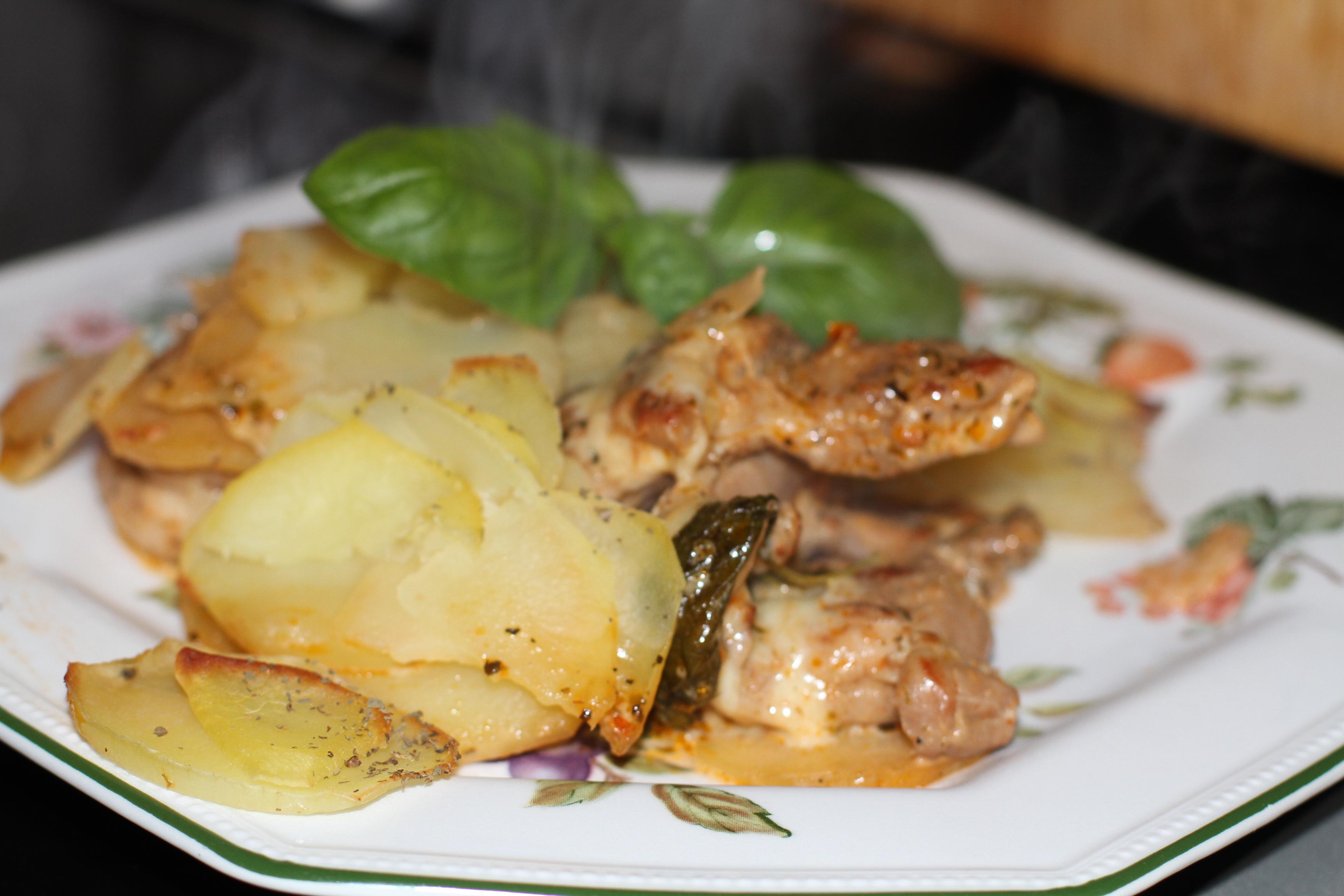 mięso z bazylią