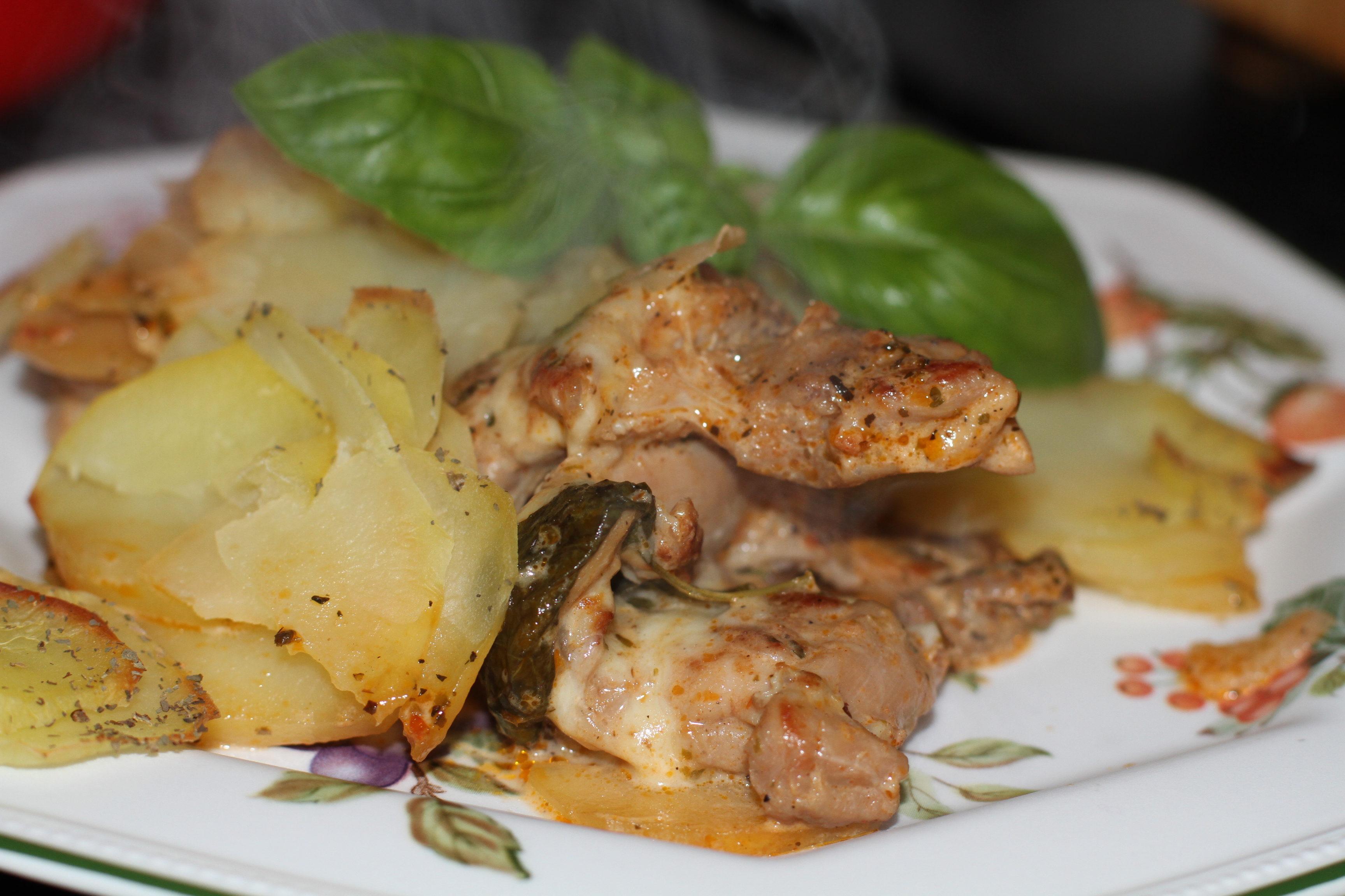 ziemniaki z mięsem z piekarnika