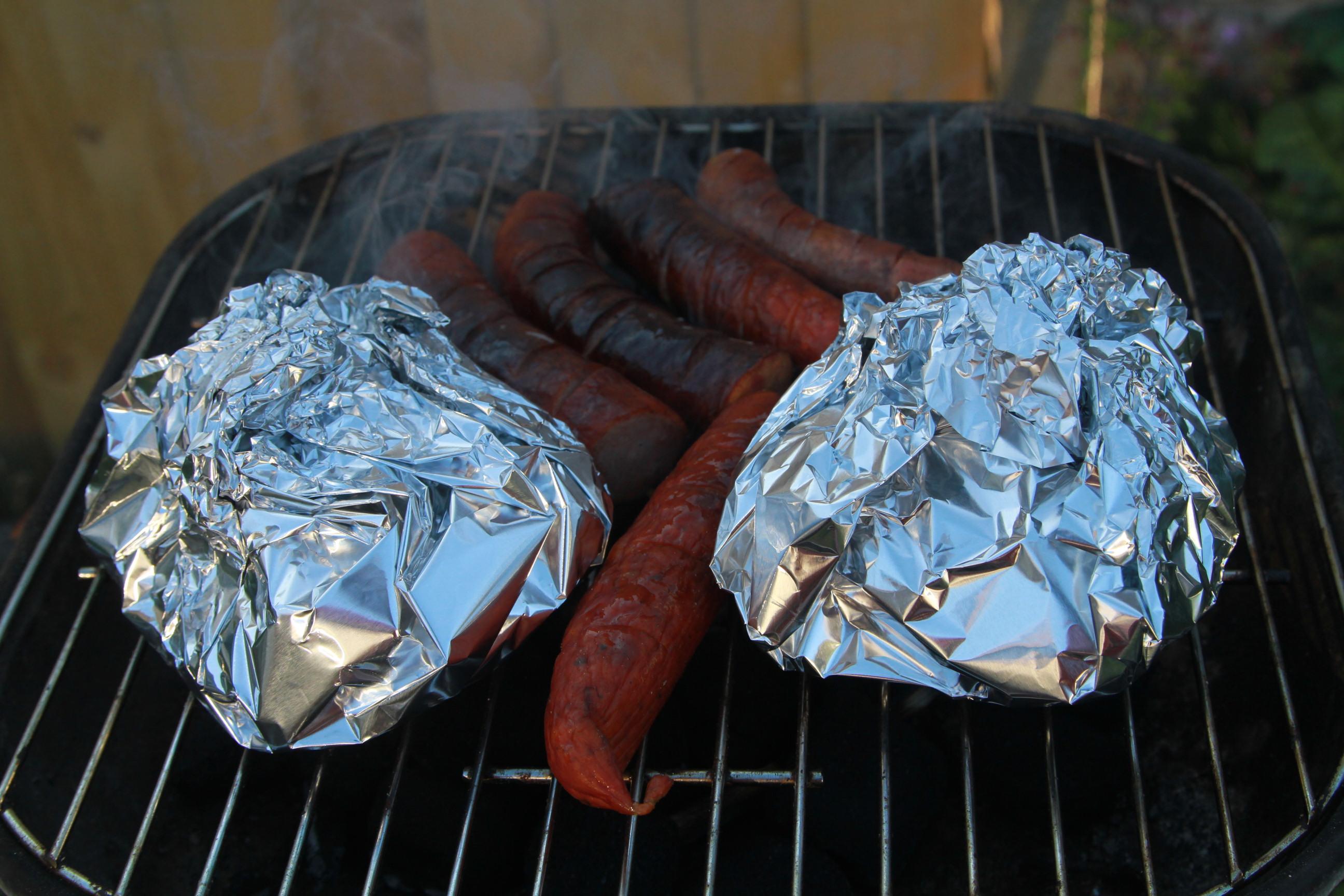 ziemniaki z boczkiem na grillu