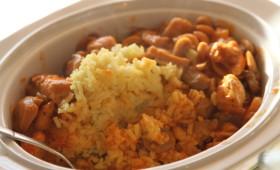 Szybki obiad z piersi kurzych  i ryżem