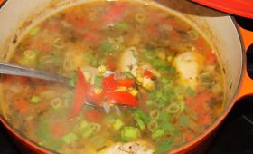 Zupa z kurczaka na ostro