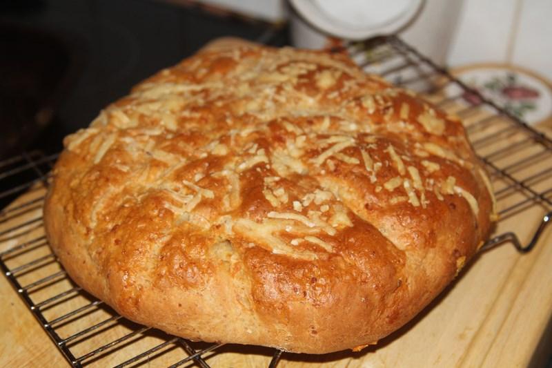 chlebek pieczony z serami