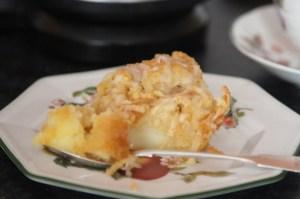 jabłecznik z potartymi jabłkami