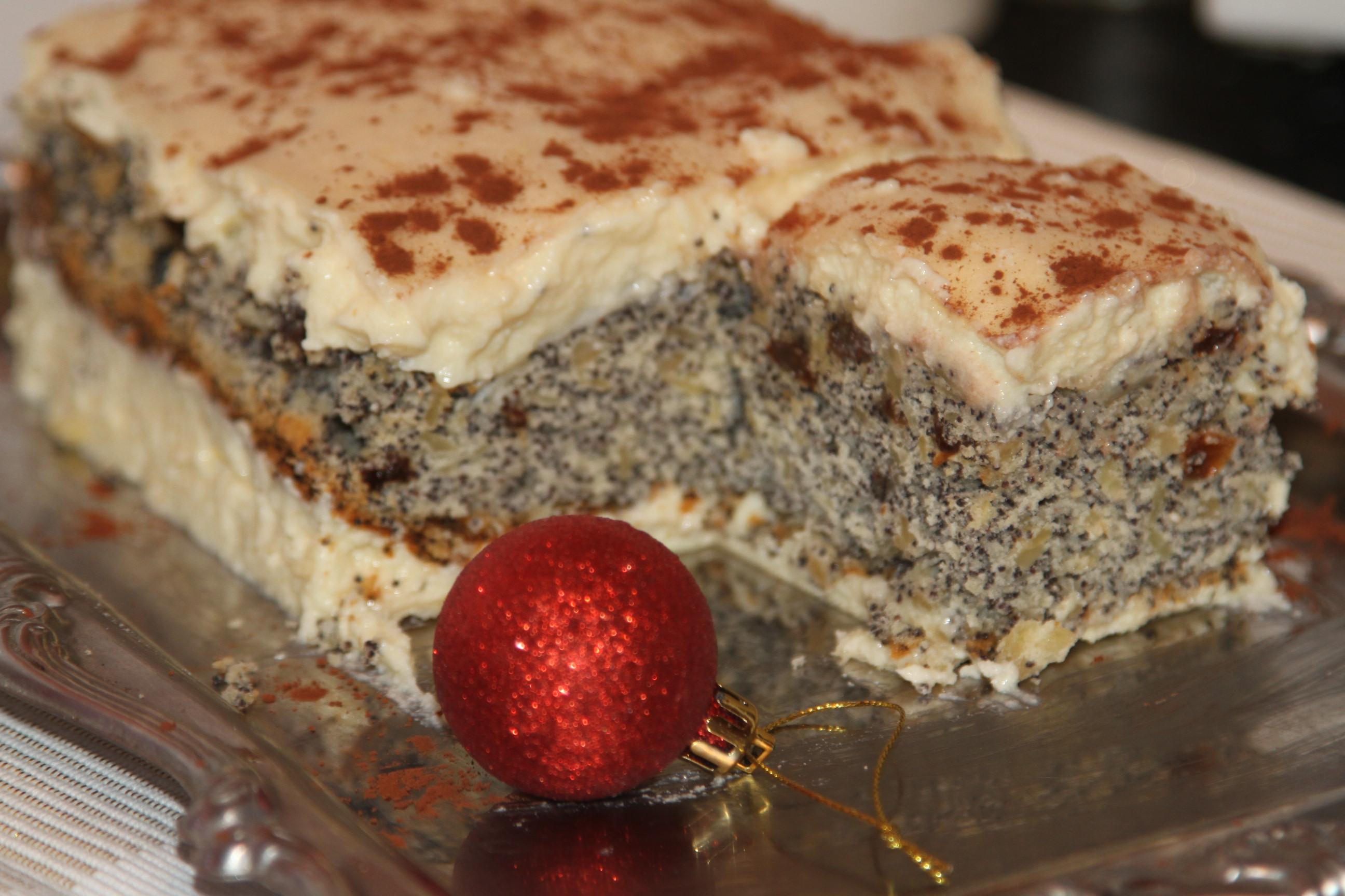 ciasto makowe z bakaliami