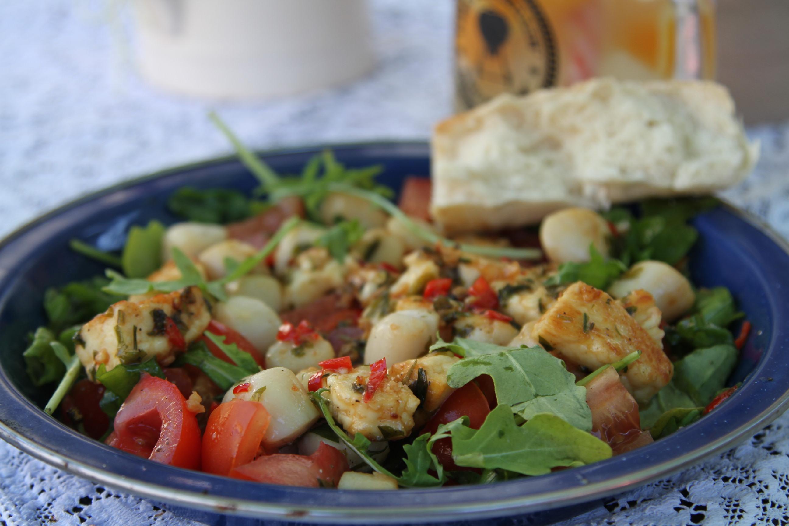 salatka z owocami morza