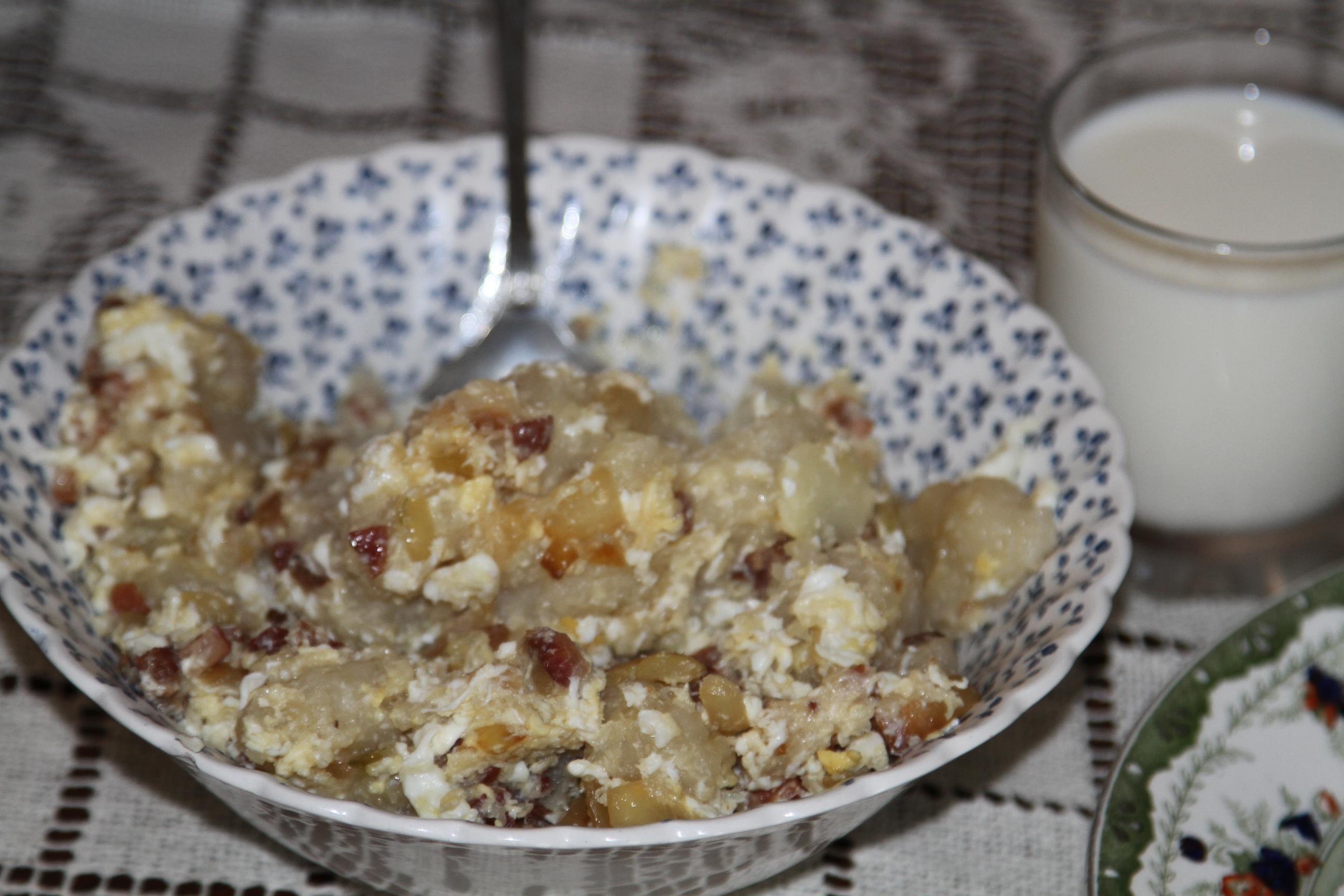 gotowane ziemniaczane kluski