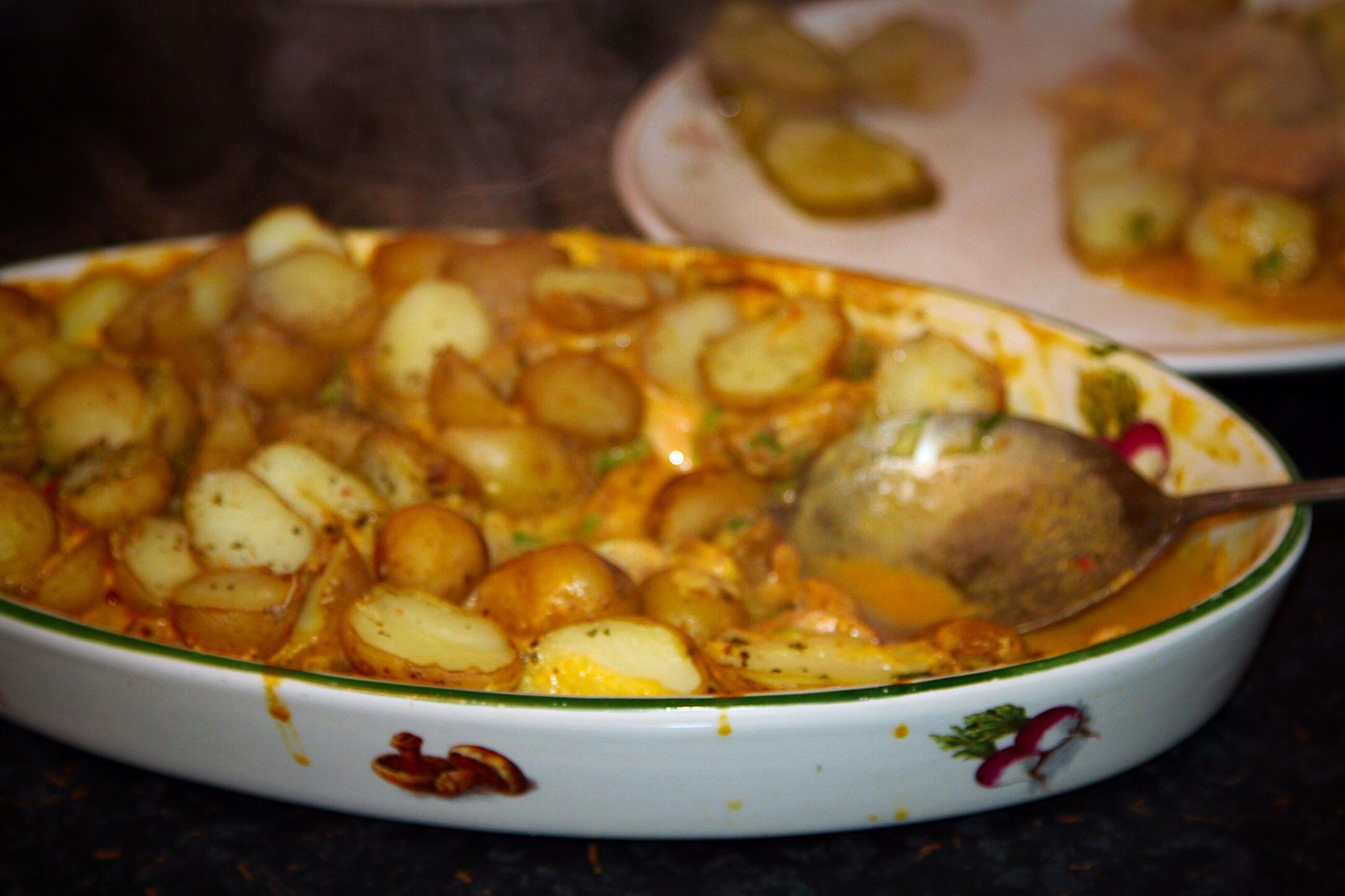 Zapiekanka z sosem z dyni
