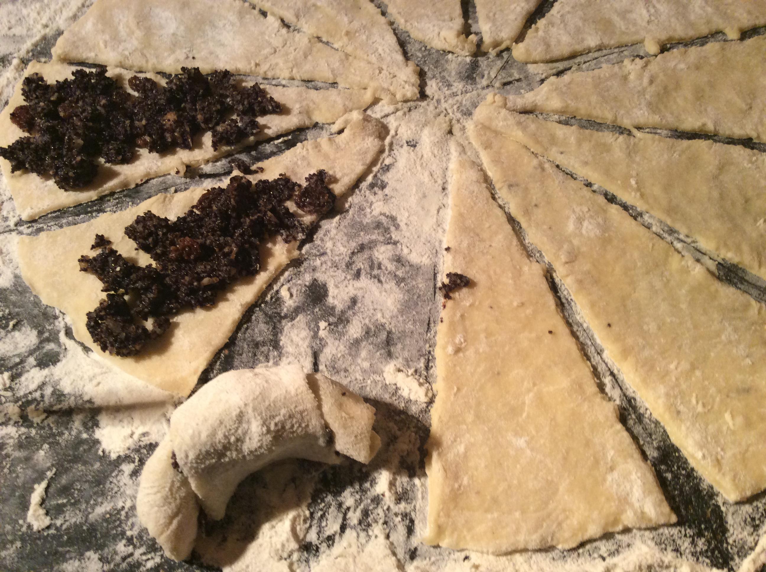 rogaliki z proszkiem do pieczenia