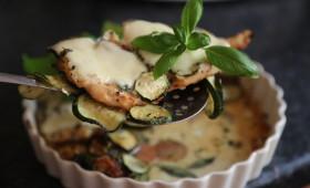 Piersi kurze z cukinią i mozzarellą lub dietetyczna wersja bez mozzarelli