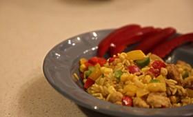 Curry risotto z kurczakiem