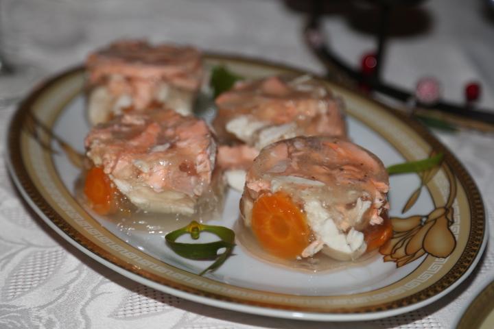galareta z łososia